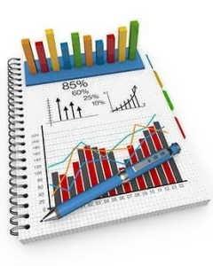 گزارش مالی با گراف